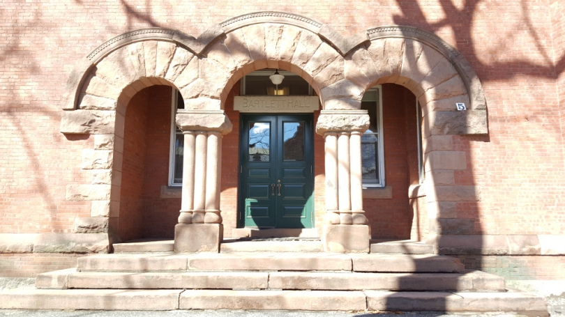 Photo of Bartlett Hall's entrance.